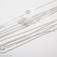 "20 Sterling SILVER Fine CURB CHAIN Necklace Lot 18""+20"""