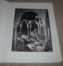 "RARE MC Escher ""DREAM"" Fallen Bishop Otherworldly PRAYING MANTIS RELIGIOSA Print"