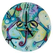 Allen Designs Frog Glass Wall Clock Boxed D136
