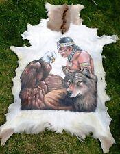ALFOMBRA PIEL DE CABRA Goatskin Piel Cabra Piel de Animal Pintado alfombra