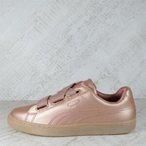 Womens Puma Basket Heart Metallic Copper Trainers (PFP1) RRP £79.99