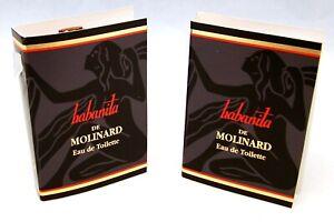 Habanita De Molinard Eau de Toilette 5 Échantillon Flacon X .89ml Chaque Neuf W/