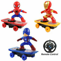 Super Hero Electric Skateboard Stunt Scooter Kids Toy Light Music Remote Control