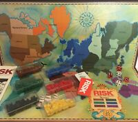 Parker Brothers 1980 Risk Board Game Military Army Conquer Attacks Continent 10+
