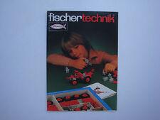 Catalogue ancien  jouets jeux de construction Fischertechnik 1970's Fischer