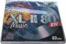 10 X Maxell Audio Cd-rw JEWEL Case Rewritable Recordable Blank Music 80 Min Disc