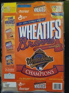 WHEATIES BOX FOLDED 1995 MLB ATLANTA BRAVES CHAMPIONS