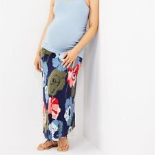 Motherhood Fold Over Belly Printed Floral Maternity Skirt Size Large