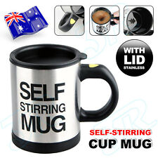 Auto Mixing Stir Self Stirring Mug Coffee Tea Cup Stainless Plain Lazy Battery