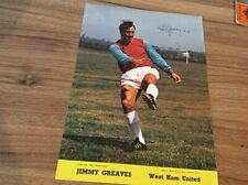 WEST HAM UNITED A4 SIZE CLUB SHOP CARD OF JIMMY GREAVES 1970
