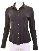 CALVIN KLEIN Womens Shirt Size 18 XL Black Cotton Slim Fit  GJ12