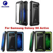 For Samsung Galaxy S8 Active, i-Blason Ares Full-Body Bumper Case Cover + Screen