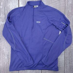 Louis Garneau Half Zip Cycling Jersey Long Sleeve Top Women Size Medium Purple