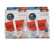 TWO PAIRS Intex Deluxe Water Arm Bands Unisex Children 3-6 Years Arm Floaters