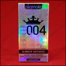 Okamoto 004 0.04 Japan 10 pcs Condoms Ultra Thin Lubricated US seller 08/2022+