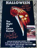 "Nick Castle ""The Shape"" Tony Moran ""Michael Myers H1"" Signed 11x17 Photo JSA COA"