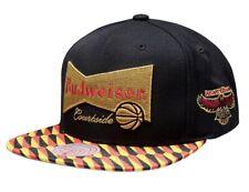 BRAND NEW MITCHELL AND NESS ATLANTA HAWKS X BUDWEISER SNAPBACK HAT 35$ MSRP