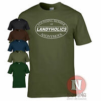 LANDYHOLICS ANONYMOUS Land Rover tribute offroad 4WD Green lane Defender t-shirt