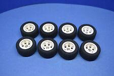 LEGO 8 x Rad Reifen 30.4x14 VR Felge weiß   white wheel rim 2994 6578 299401