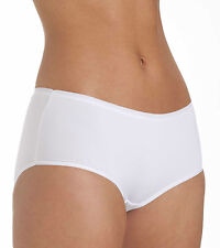 Ladies Size 12 Boy Shorts Midi  Knickers Panties Silky Soft Microfibre White