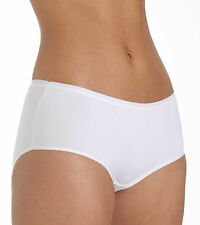 Ladies Size 18 Boy Shorts Midi  Knickers Panties Silky Soft Microfibre White