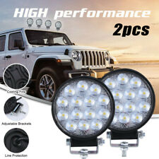 2PCS 24W LED Work Spot Light Round Lamp SUV Truck Boat ATV UTE 4WD 12V/24V Volt