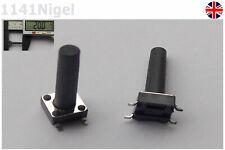 6mmx 20mm Negro Pulsador Táctil Interruptor Micro SMD