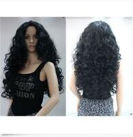 Popular Women Long Black Wavy Curly Ladies Cosplay Party Heat Resistant Full Wig