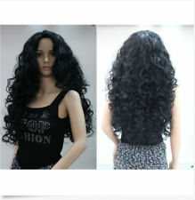 Hot Women Beautiful Long Black Wavy Curly Ladies Charming Cosplay Party Full Wig