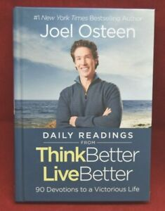 Joel Osteen Daily Readings Think Better Live Better Hardcover Book