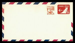 DR WHO CANAL ZONE UNUSED SURCHARGE AIRMAIL STATIONERY  g21147