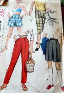 LOVELY VTG 1950s GIRLS PANTS & SHORTS Sewing Pattern 8
