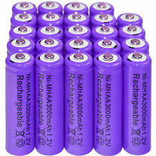 24 x AA 3000mAh Ni-Mh 1.2V rechargeable battery Cell for MP3 RC Purple US Stock