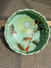 Asian Antiques, Porcelain, Bowl,Celadon,Hand Painted, Seto, 1890-1920, Japan