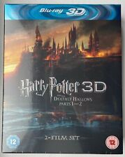 Harry Potter and the Deathly Hallows Parts 1 & 2 Blu Ray 3D - New & Sealed