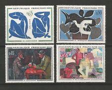 France 1961 tableaux de peintres modernes Y&TN°1319 à 1322 non oblitérés /T6410
