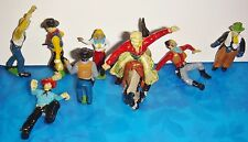 VINTAGE FORT APACHE COWBOYS Lot B 8+1  VG. Marx 1950s Hard Rubber & hand Painted