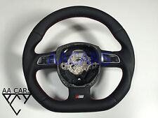 Steering Wheel AUDI A4 A5 A6 A8 Q7 S-Line Flat Bottom Leather