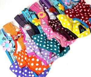 SET - 3pcs Dog Puppy Diaper Sanitary Pants RANDOM COLORS Polka Dots Female Girl