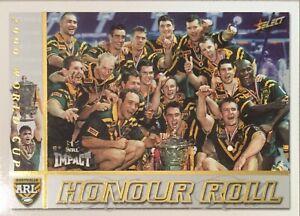 2001 SELECT NRL IMPACT HONOUR ROLL, WORLD CUP AUSTRALIA HR2