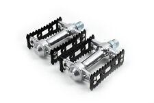 MKS Sylvan Stream silver black pedals - City riding - vintage track pedal look