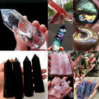 Natural Aura Lemurian Seed Crystal Quartz Stones Point Specimen Healing Pendant