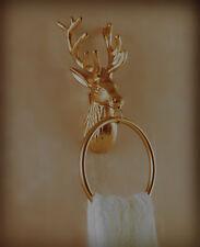 Dipamkar® Cast Iron Stag Head Towel Ring/Holder,Bathroom/Kitchen Towel Ring/Rail