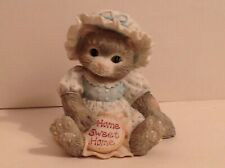 "Vintage 1993 Enesco Calico Kittens ""Home Sweet Home"" Figurine-Item #624703"