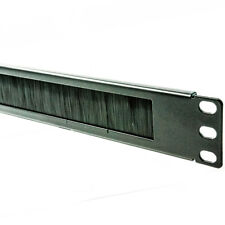 More details for cable management 19 universal panel 1u with black brush for data cabinet
