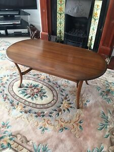 Ercol Renaissance Vintage Oval Solid Wood Coffee Table Model 1063