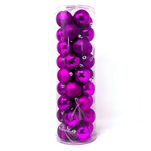 "Allgala Christmas Tree Ornament Balls, 36 PK 4 Style 2"" Xmas Balls"