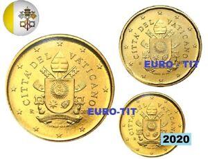 1  X  LOT  DE   3  X PIECES  VATICAN   2020   NEUVES        disponible