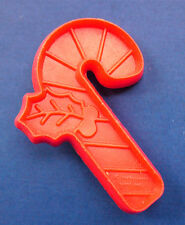 BUY1&GET1@50%~Hallmark COOKIE CUTTER Christmas CANDY CANE HOLLY RED Vtg Sft-MINI