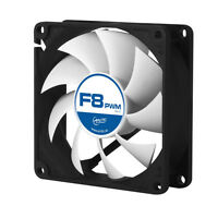 4 Pack of Arctic F8 PWM Rev.2 80mm 8cm PC Gaming Case Fan Silent, 6Yr Wty